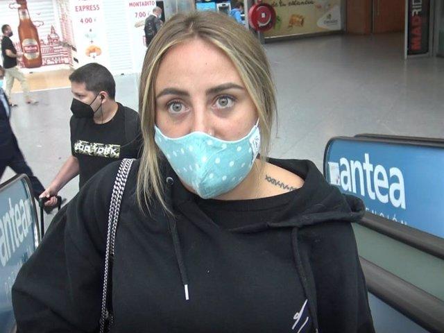 Rocío Flores, a su llegada a Madrid