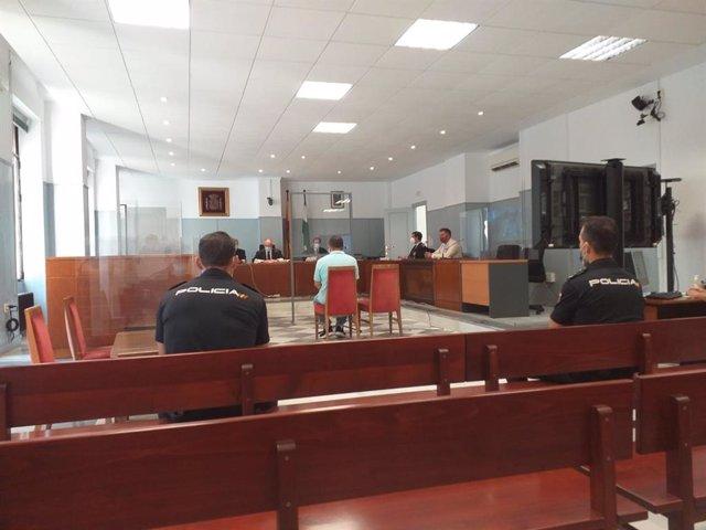 Carlos Alexander R.L., en el banquillo de los acusados este miércoles en Almería
