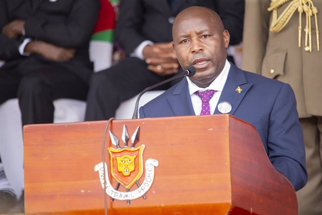 Archivo - Evariste Ndayishimiye, presidente de Burundi
