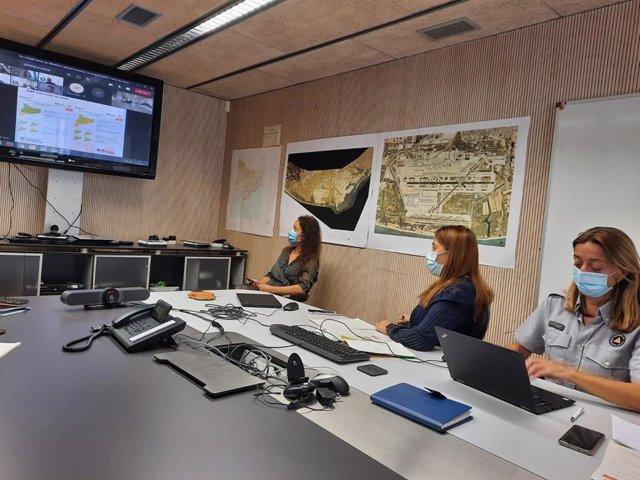 Imatge de la reunió per l'alerta de pluges fortes a Catalunya