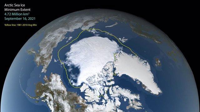 Mínimo de hielo en el Ártico para el verano de 2021