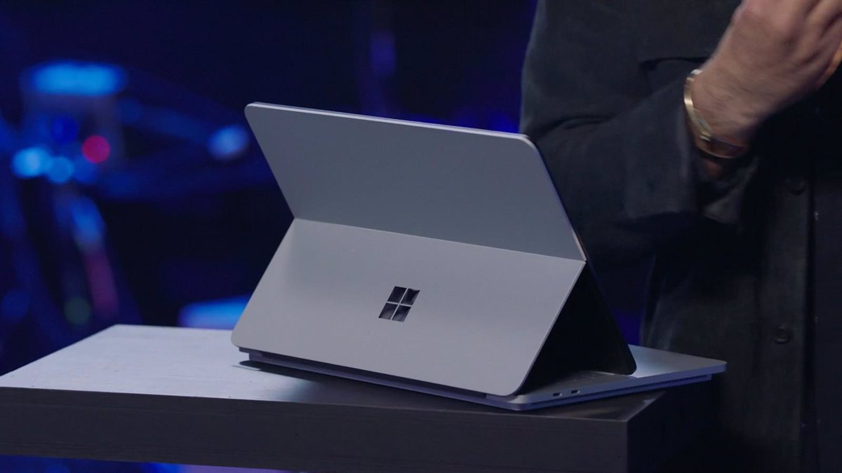 Microsoft redesigns its Surface Duo dual.screen mobile and introduces the Laptop Studio hybrid form factor
