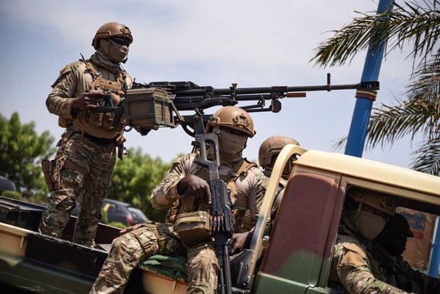 Archivo - Soldado del Ejército de Malí.