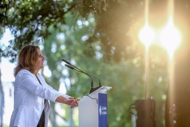 La vicepresidenta tercera del Govern i ministra per a la Transició Ecològica i el Repte Demogràfic, Teresa Ribera