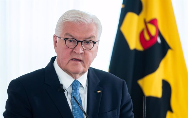 """13 September 2021, Berlin: German President Frank-Walter Steinmeier speaks at the presentation of the research project """"The Office of the Federal President and the confrontation with National Socialism 1949-1994"""" at Bellevue Palace. Photo: Bernd von Jutrc"""