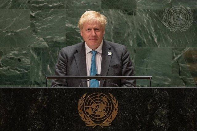 El primer ministro británico, Boris Johnson, durante su intervención en la Asamblea General de Naciones Unidas