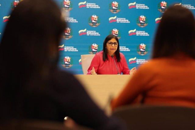 Archivo - La vicepresidenta de Venezuela, Delcy Rodríguez.