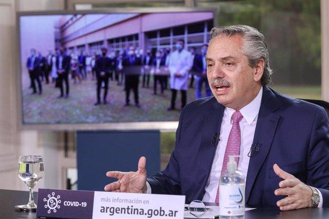 Archivo - El presidente argentino, Alberto Fernández