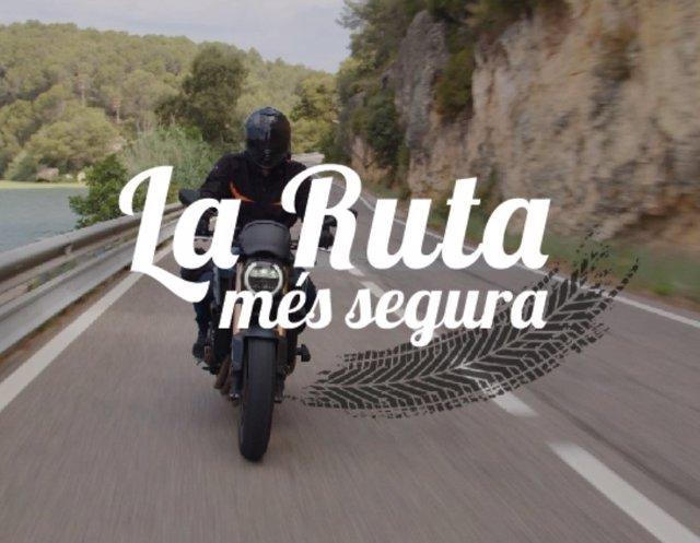 Imatge de la nova campanya 'La ruta més segura' per prevenir accidents de moto