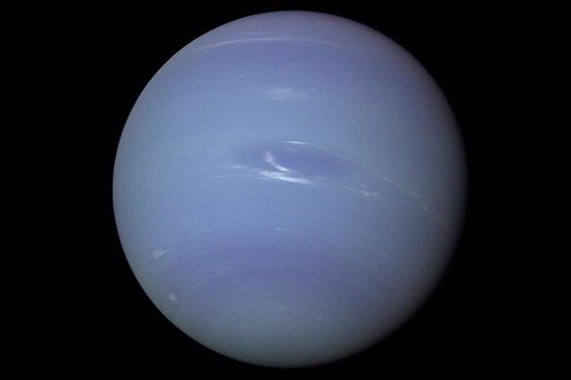 Imagen de Neptuno tomada en 1989 por la misión Voyager 2 de la NASA