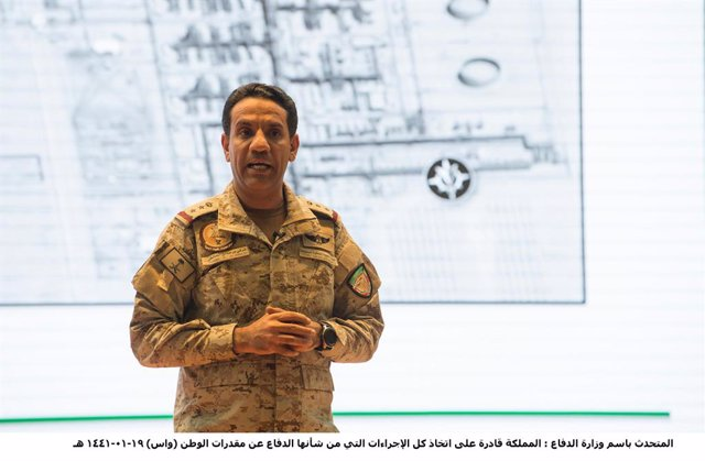 Archivo - El portavoz de la coalición militar encabezada por Arabia Saudí en Yemen, Turki al Malki