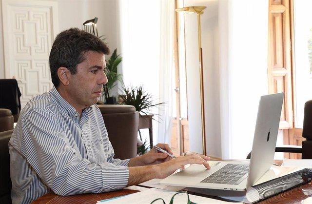Archivo - Arxiu- El president de la Diputació d'Alacant i del PPCV, Carlos Mazón