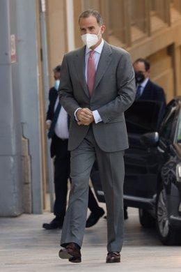 Archivo - Su Majestad el Rey Felipe VI, inaugura el Museo del Foro Romano Molinete en Cartagena