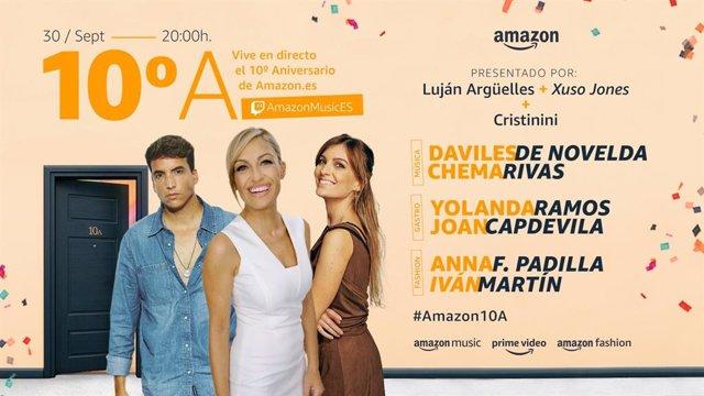 Fiesta de celebración del décimo aniversario de Amazon.Es