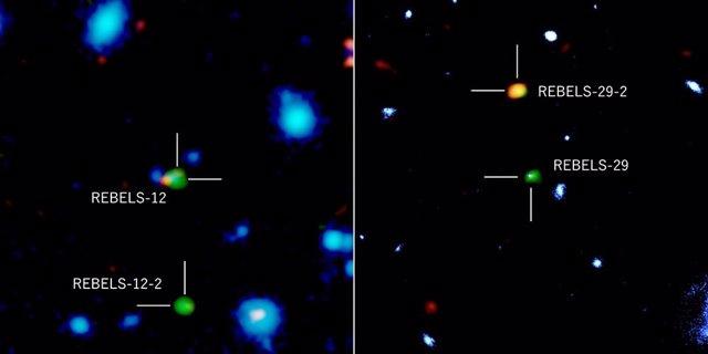 Galaxias distantes fotografiadas con ALMA, el telescopio espacial Hubble y el telescopio VISTA del Observatorio Europeo Austral