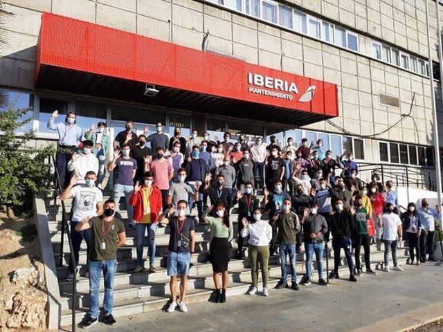 Medio centenar de estudiantes de FP harán prácticas en Iberia Mantenimiento