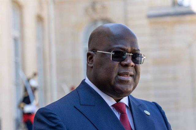 Archivo - El presidente de República Democrática del Congo (RDC), Félix Tshisekedi