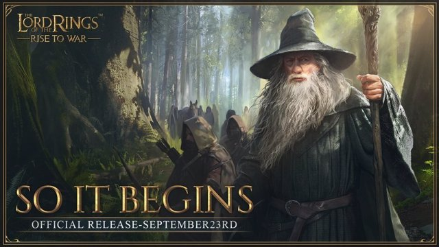 Cartel del videojuego The Lord of the Rings: Rise to War.