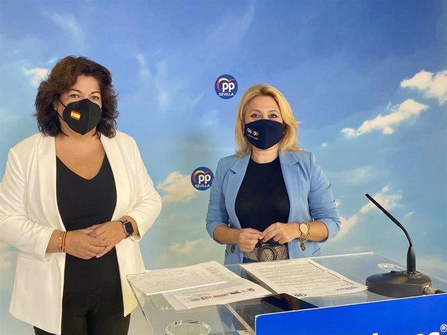 Maria Eugenia Moreno y Helena Romero en rueda de prensa