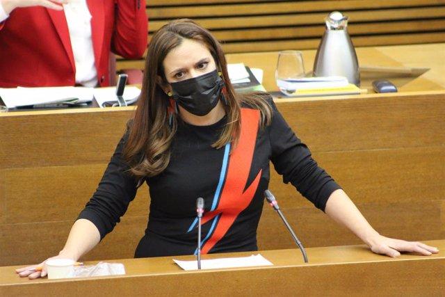 Archivo - Arxiu - La portaveu adjunta de Compromís, Mònica Álvaro,