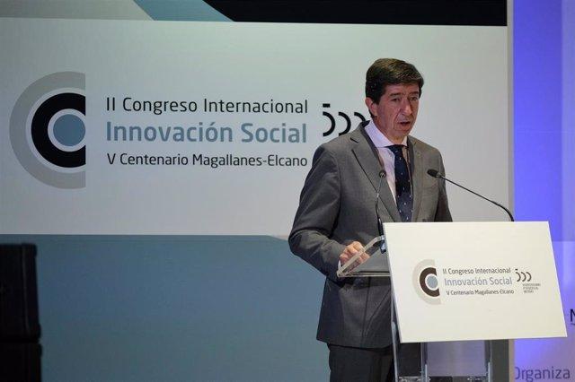Juan Marín en el II Congreso de Innovación Social Magallanes-Elcano