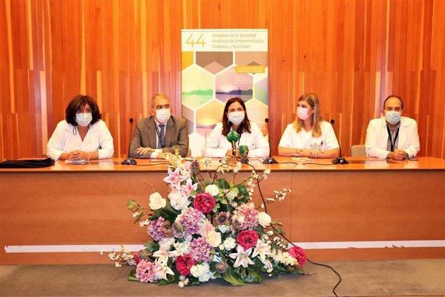 Presentación del 44 Congreso de la Sociedad Andaluza de Endocrinología, Nutrición y Diabetes, que se celebra en Huelva.