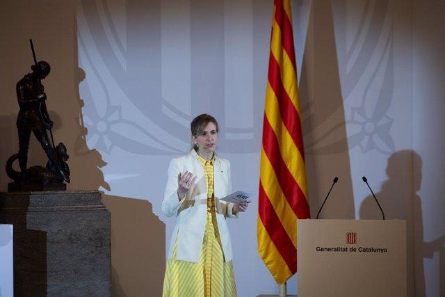 Archivo - Arxivo - La consellera d'Accíon Exterior i Transparència, Victòria Alsina, en una foto d'arxiu.