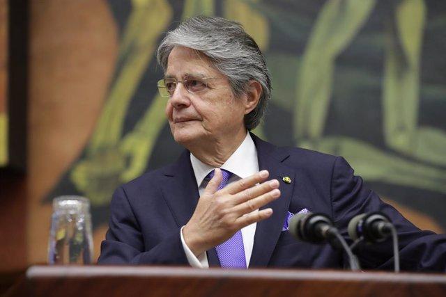 Archivo - El presidente de Ecuador, Guillermo Lasso
