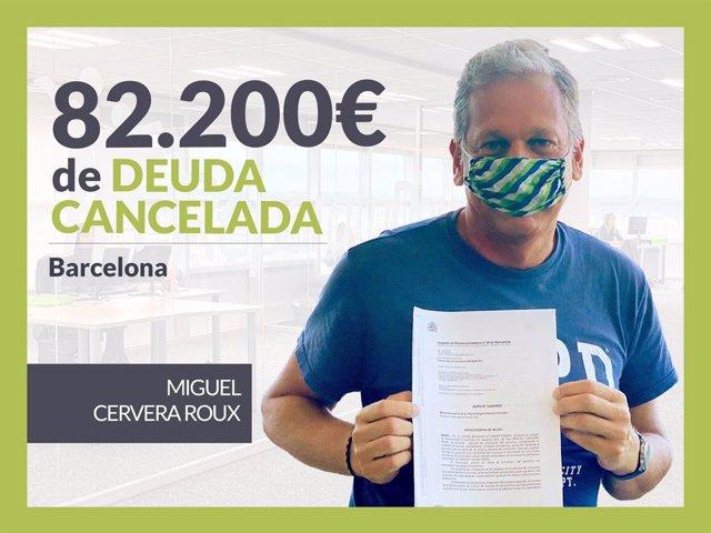 Miguel Cervera, exonerado con Repara Tu Deuda.