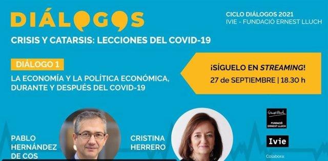 Diálogo entre Pablo Hernández de Cos y Cristina Herrero.