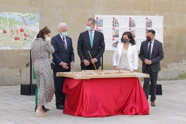 El Rey Felipe llega a Logroño para conocer de primera mano la historia del Sitio de la Ciudad en su V Centenario
