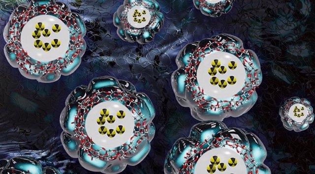 Dibujo de las nanopartículas desarrolladas en este trabajo.
