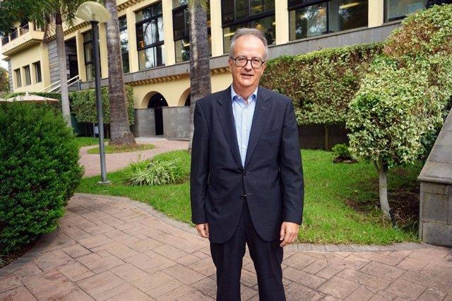 El copresidente de Barceló, Simón Pedro Barceló, este viernes en el Hotel Escuela de Santa Brígida