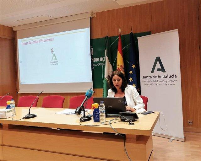 Archivo - Imagen de archivo de la delegada de Educación, Estela Villalba.