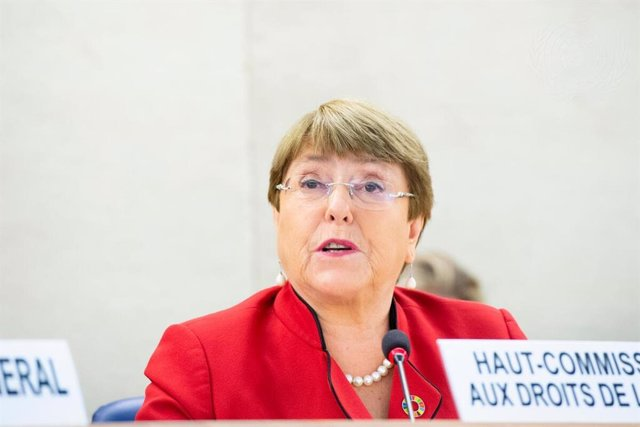 Archivo - Michelle Bachelet, United Nation High Commissioner for Human Rights, addresses the opening of the forty-third regular session of the Human Rights Council.