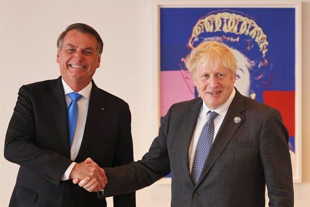 Jair Bolsonaro y Boris Johnson.