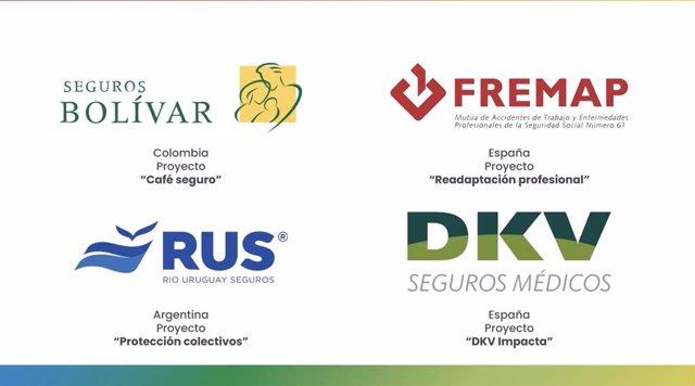 Proyectos premiados por la I Cumbre Iberoamericana