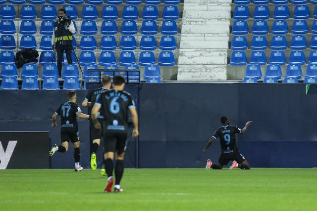 Archivo - Umar Sadiq of UD Almeria celebrates a goal during the Spanish second league, Liga SmartBank, football match played between CD Leganes and Almeria  at Municipal de Butarque stadium on February 17, 2021 in Leganes, Spain.