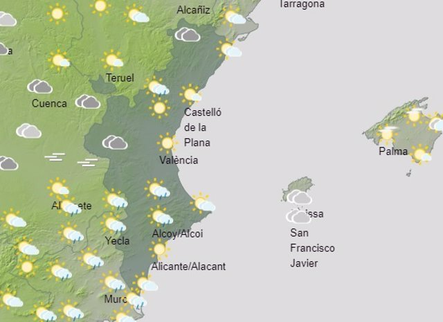 Predicción del tiempo para este sábado 25 de septiembre