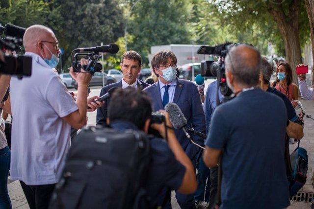 L'expresident de la Generalitat Carles Puigdemont reapareix després de sortir de presó a Itàlia