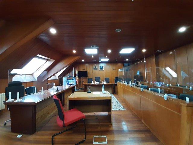 Archivo - Sala de la Sección Primera de la Audiencia Provincial de Cantabria. Salesas. Juicios.