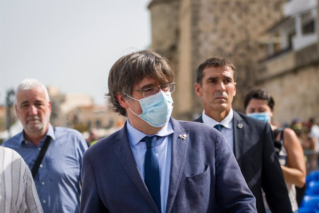 L'expresident de la Generalitat Carles Puigdemont acudeix al festival Adifolk en L?L'Alguer, Sardenya (Itàlia)