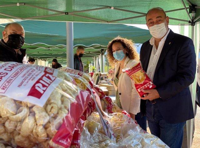 El presidente de la Diputación de Segovia, Miguel Ángel de Vicente, en la primera Feria de Alimentos de Segovia.