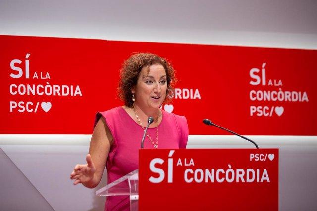 La portaveu del PSC en el Parlament, Alicia Romero