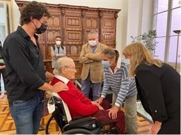 L'arquitecte Oriol Bohigas i la consellera de Cultura, Natàlia Garriga