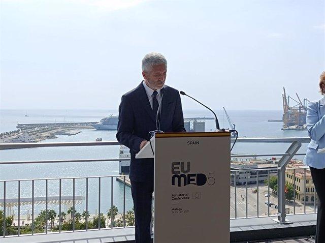Fernando Grande-Marlaska, ministro del Interior, en rueda de prensa
