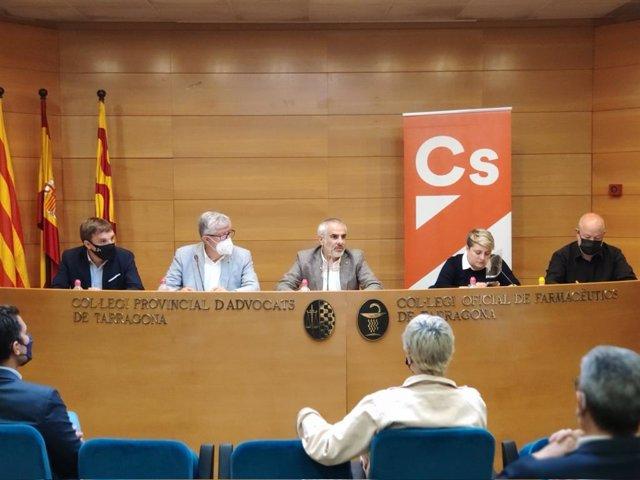 El líder de Cs a Catalunya, Carlos Carrizosa, durant el Comitè Autonòmic del partit a Tarragona.