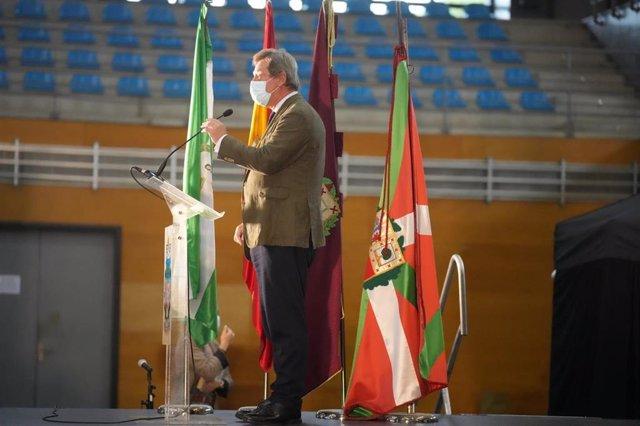 El portavoz del Gobierno Vasco, Bingen Zupiria, durante LOS XXXI Encuentros Andaluces en Euskadi
