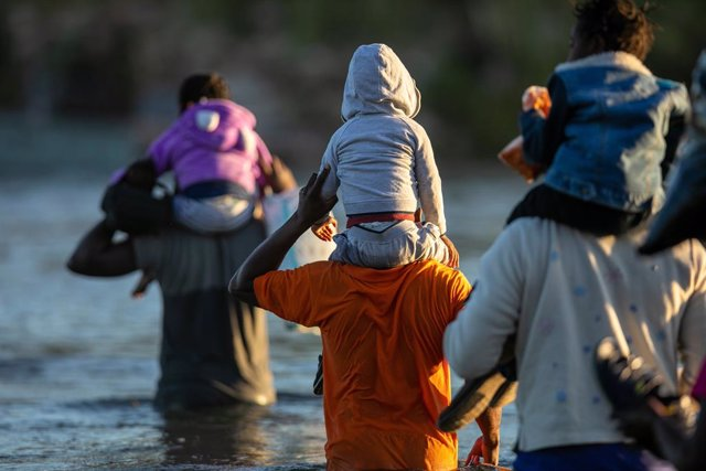 Migrantes haitianos en Del Río, Texas, EEUU