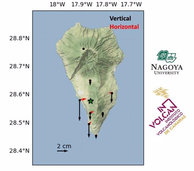 Registran una disminución de la presión en el sistema magmático de Cumbre Vieja (La Palma)